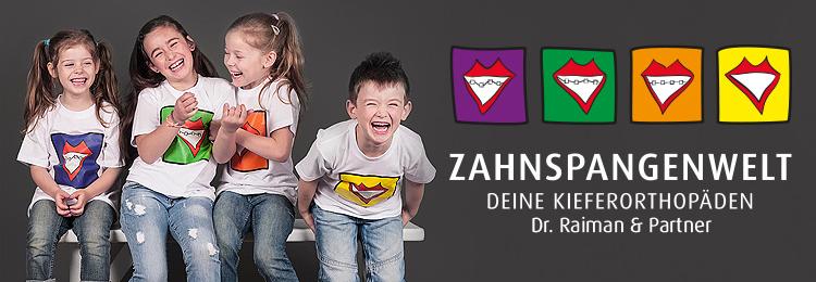Lachende Kinder beim Kieferorthopäden Dr. Jan V. Raiman & Partner